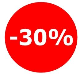 remise de 30 % vacances été