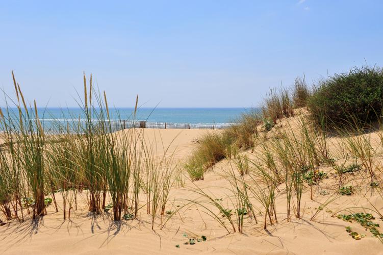 la plage du Veillon près des Sables d'Olonne